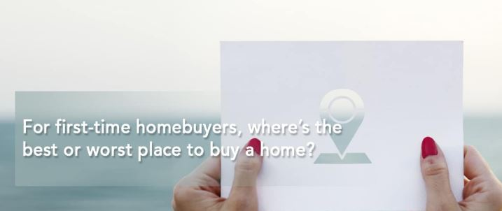 For first-time homebuyers, where's the best or worst place to buy a home?