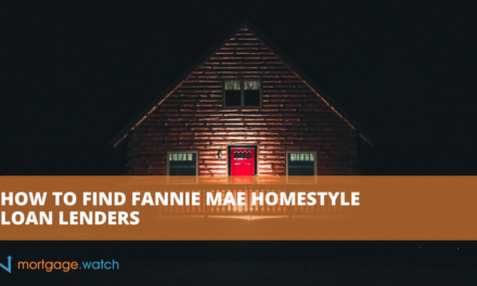 HOW TO FIND FANNIE MAE HOMESTYLE LOAN LENDERS